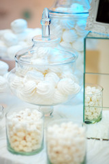 Stylish sweet table for wedding party