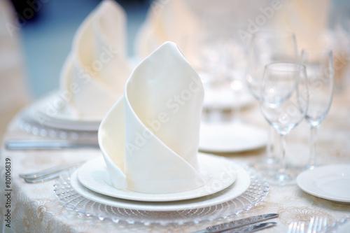 Papiers peints Table preparee Table set for event reception