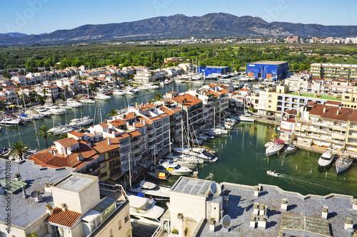 Papiers peints Ville sur l eau Panoramic view of Empuriabrava, Catalonia, Spain