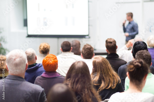 Audience in the lecture hall. - 80107254