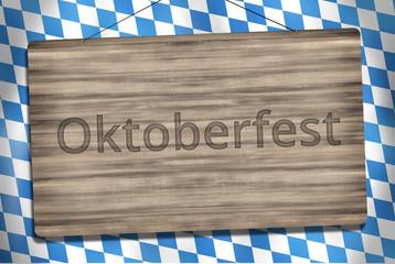 Okotberfest Bavaria Wood Sign Graphic Illustration