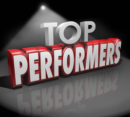 Top Performers Words Stage Recognize Best Workers Performance