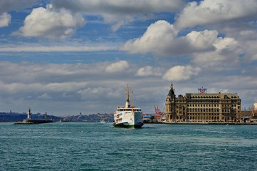 Haydarpasha and classic steamer of Istanbul