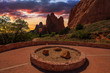 Sunset Image of the Garden of the Gods. - 80108861