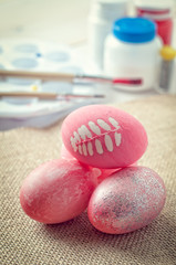 Easter eggs, creating Easter decoration