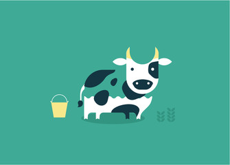 vector cow icon