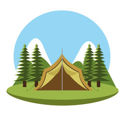 Camping design, vector illustration.
