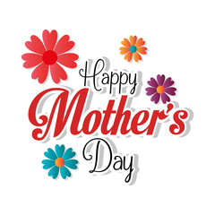 Mothers day card design, vector illustration.
