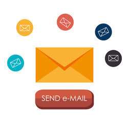 Email marketing design, vector illustration.