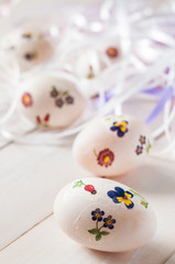 easter eggs made decoupage methods