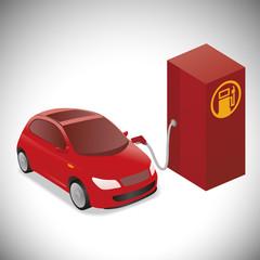 Illustration of Gasoline-powered vehicle