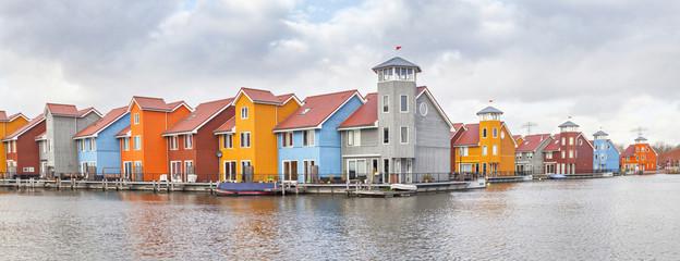 Panorama of Reitdiephaven, Groningen