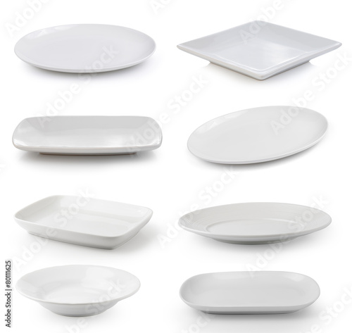 white plate on a white background - 80111625