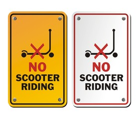 no scooter riding signs