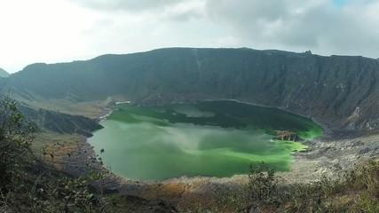 Volcanic sulfur lake