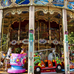 Colorful Carousel or Merry-Go-Round