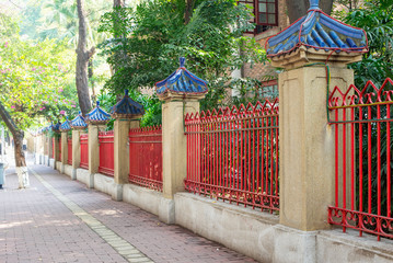 chinese style fence