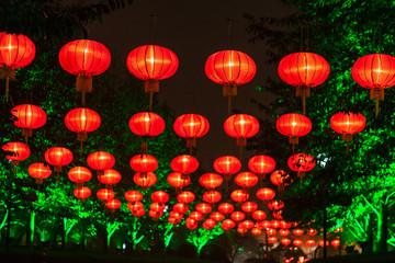 Exhibit of lanterns during the Lantern Festival