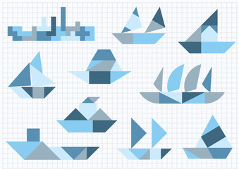 ships different Tangram