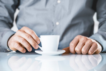 Businessman enjoying a coffee break