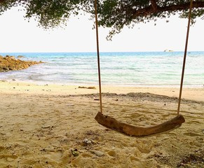 swing on beach