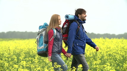 Tourists in Yellow Meadow