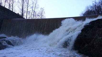 Vanhankaupunginkoski rapids on Vantaa River in Helsinki, Finland