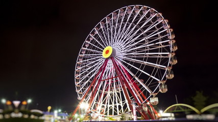 Ferris Wheel at Night (Timalapse-Loopable)