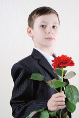 Young Gentleman with Rose