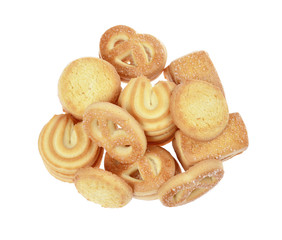 butter cookies,homemade biscuits, isolated