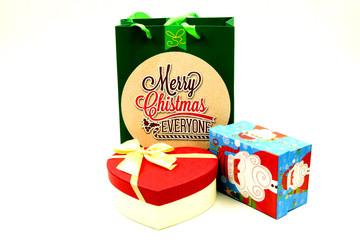 Christmas Gift Box and Paper Bag