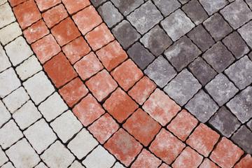 Color paving slabs