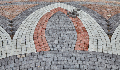 Color paving slabs