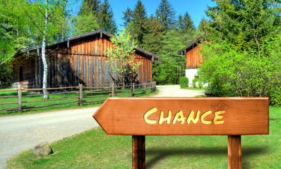 Strassenschild 32 - Chance