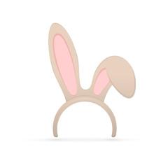 Rabbit ears on white background