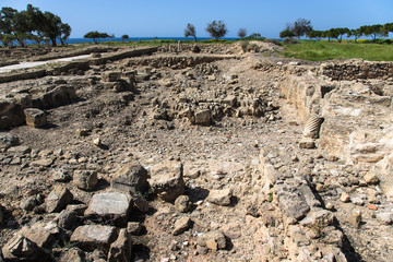 Stony area archaeological site on the Mediterranean coast
