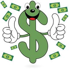 Happy Dollar symbol
