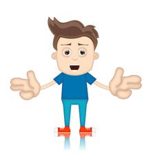 Ben Boy Cartoon Character Toon Man