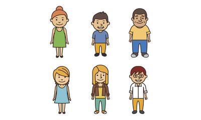urban people illustration set