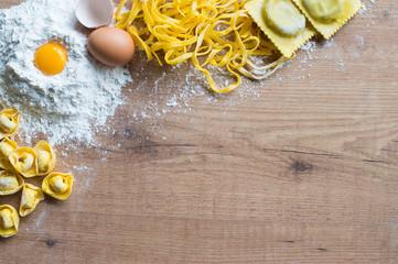 Handmade pasta background