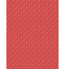 Seamless dot pattern. Multicolor dots on red background