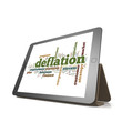 Deflation word cloud on tablet
