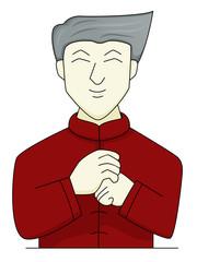 Chinese Man Salute