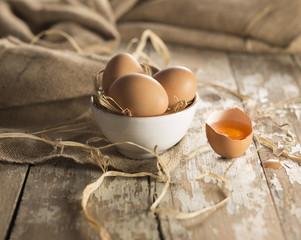 raw organic brown egg