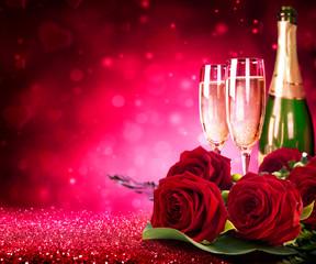 цветы и шампанское