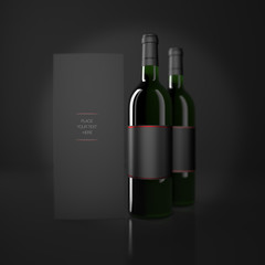 Wine and booklet