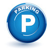 parking sur bouton bleu - 80125094