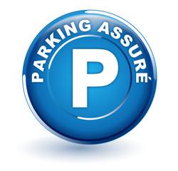 parking assuré sur bouton bleu