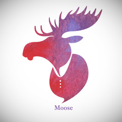 Moose_head_Watercolor_silhouette