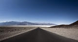 Asphalt Road in the Death Valley National Park, California